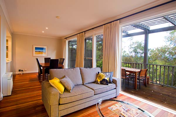 2 bedroom hotel apartment living area with large balcony hunter valley new south wales australia