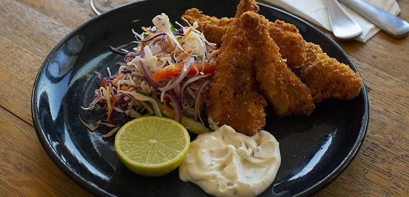 Bistro deep fried fish at Bistro and Bar Restaurant Oaks Cypress Lakes Resort