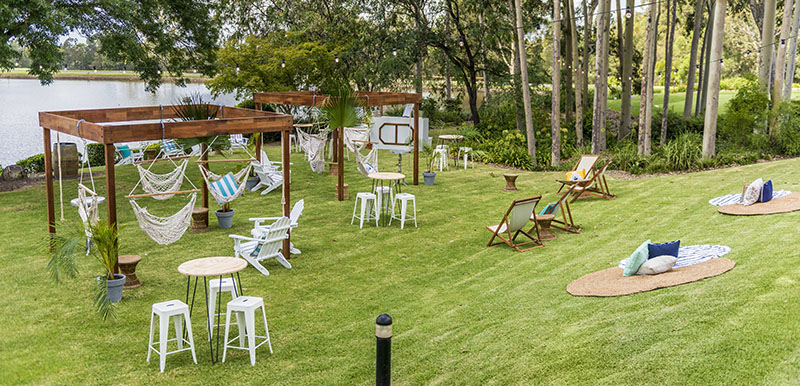 outdoor functions venue with furniture hunter valley
