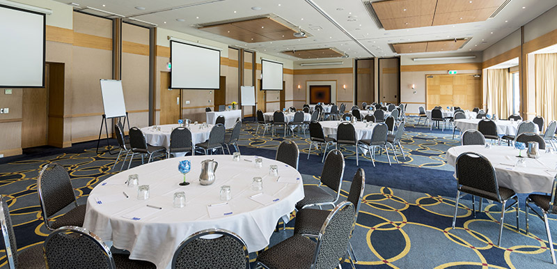 big venue at oaks cypress lakes resort ready for hunter valley functions and events
