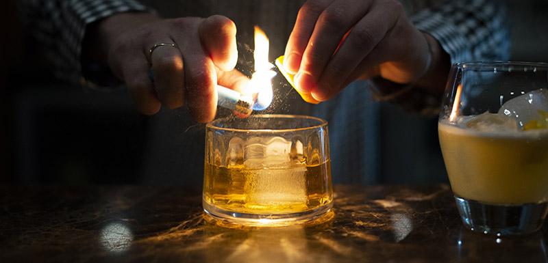 whiskey bar at Connoisseur Bar Oaks Cypress Lakes Resort