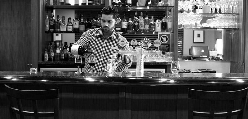 wine bar at Connoisseur Bar Oaks Cypress Lakes Resort