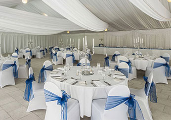beautifully decorated marquee tent hired for wedding in hunter valley region