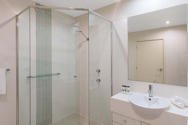 bathroom with shower near tomaree national park in port stephens NSW
