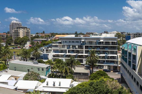 studio apartment balcony views of Oaks Waterfront Resort