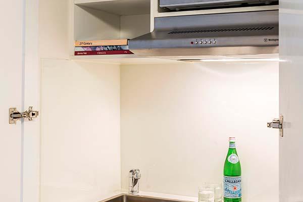 storage space in studio hotel apartment in Sydney CBD