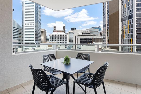 Oaks Brisbane Aurora Suites Balcony