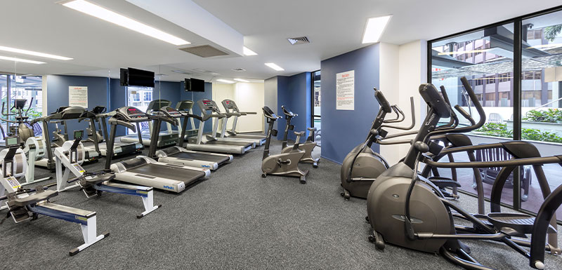 Oaks Brisbane Aurora Suites Gym