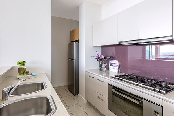 Oaks Brisbane Casino Tower Suites 3 Bedroom Apartment fully equipped Kitchen
