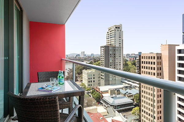 Brisbane City View at Oaks Brisbane Felix Suites 1 Bed Apartment