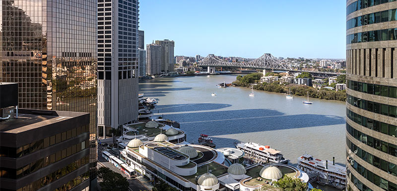 Oaks Brisbane on Felix Suites 2 Bed Story Bridge View
