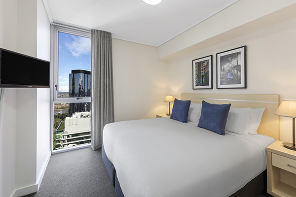 1 bedroom hotel apartment with in-room TV and Foxtel Brisbane