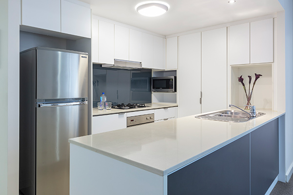 Oaks Brisbane Festival Suites 2 Bed Executive Kitchen