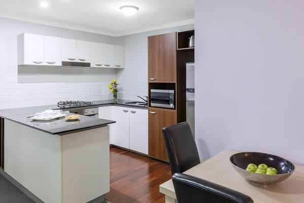 Oaks Brisbane Lexicon Suites 2 Bedroom Kitchen