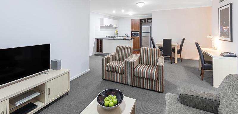 Oaks Lexicon 2 Bedroom Living Area