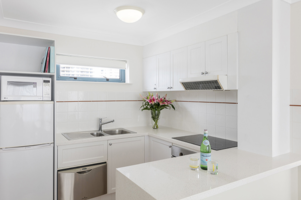 Oaks Calypso Plaza 2 Bedroom Ocean Premier Kitchen at Coolangatta, Gold Coast