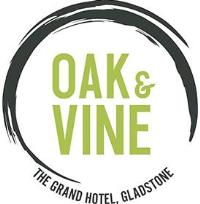 oak and vine restaurant logo at oaks grand gladstone