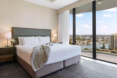 Oaks Gold Coast 1 Bedroom Ocean View Bedroom One