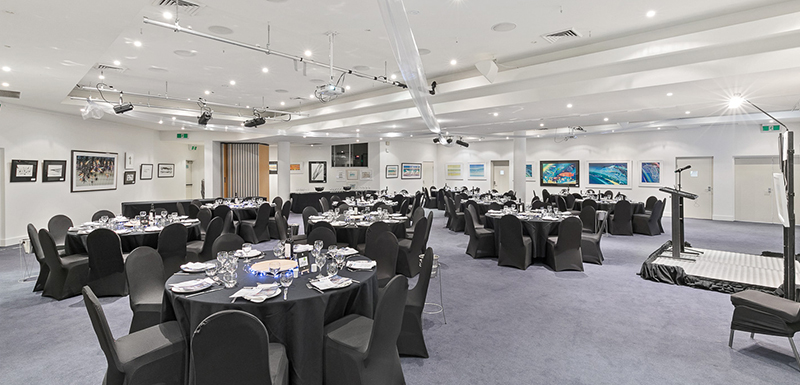Large conference room with sound system and projector in Hervey Bay, Queensland, Australia