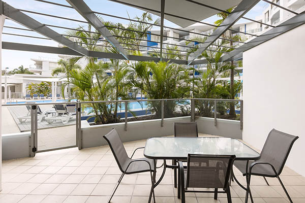 Oaks Resort and Spa Hervey Bay 1 Bedroom Pool View Balcony