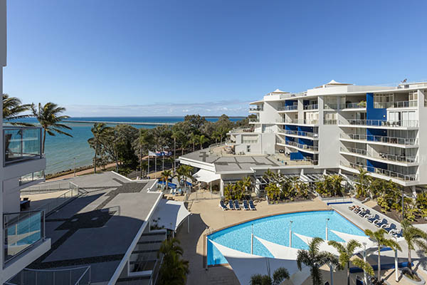 Oaks Resort Spa Hervey Bay 2 Bedroom Ocean View Balcony