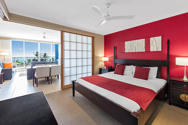 Oaks Resort Spa Hervey Bay 3 Bedroom Premier Ocean View Bedroom