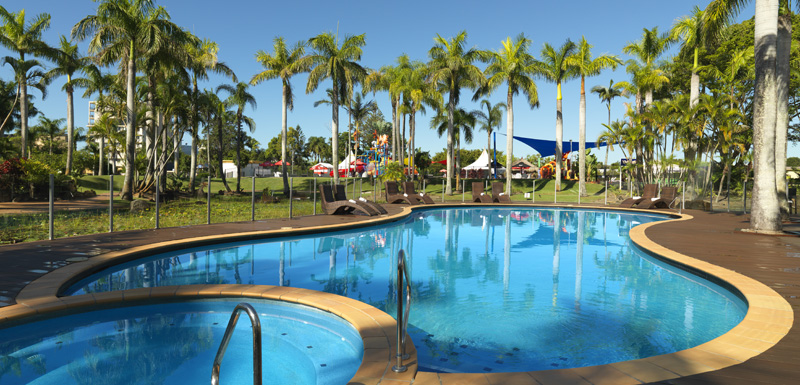 large child friendly swimming pool at Oaks Oasis Resort Caloundra accommodation on Sunshine Coast, Queensland, Australia