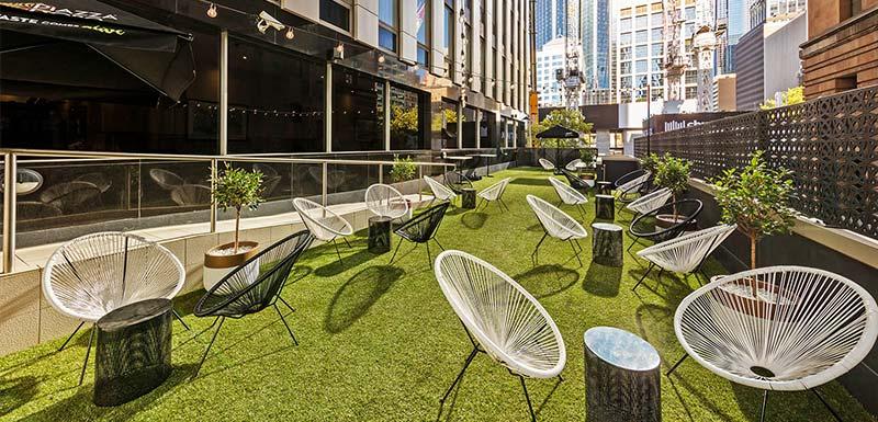 Oaks on Market terrance outdoor event at Melbourne hotel