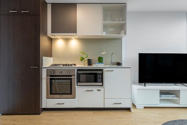 Oaks Melbourne Southbank Suites 1 Bedroom View Kitchen