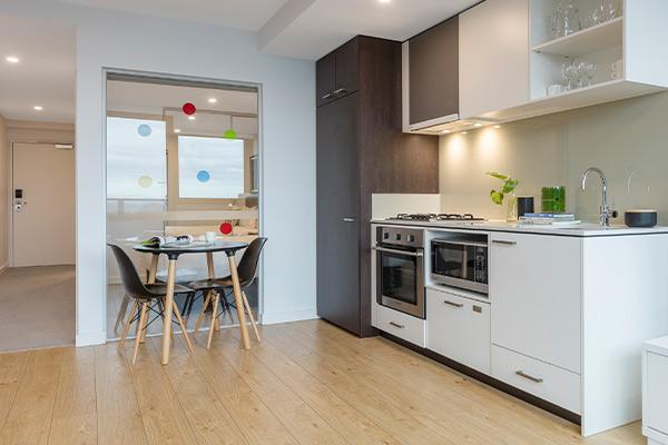 Oaks Melbourne Southbank Suites 1 Bedroom View Living