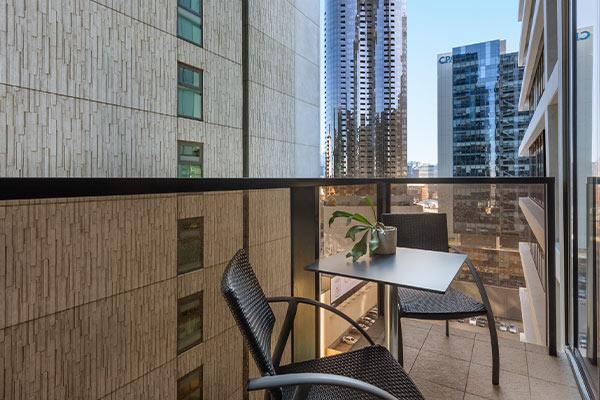 WRAP on Southbank 1 Bedroom Balcony