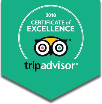 TripAdvisor Certificate of Excellence badge 2018