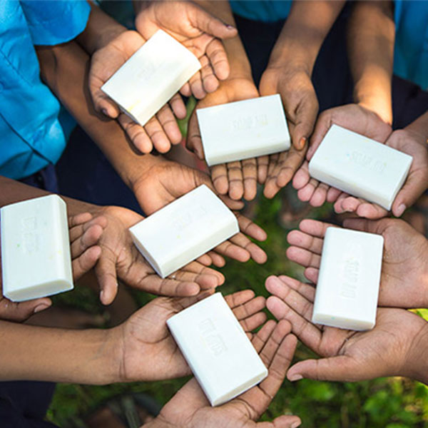 Recycling soap to improve kids' hygiene