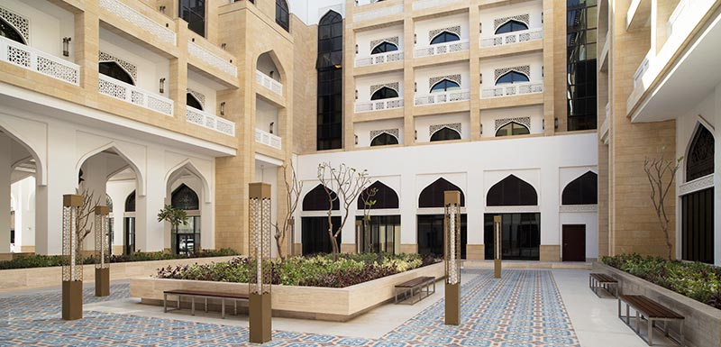 Al Najada Doha Hotel Apartments by Oaks - Court Yard