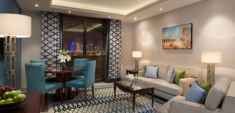 Al Najada Doha Hotel Apartments by Oaks - Two Bedroom Deluxe Apartment