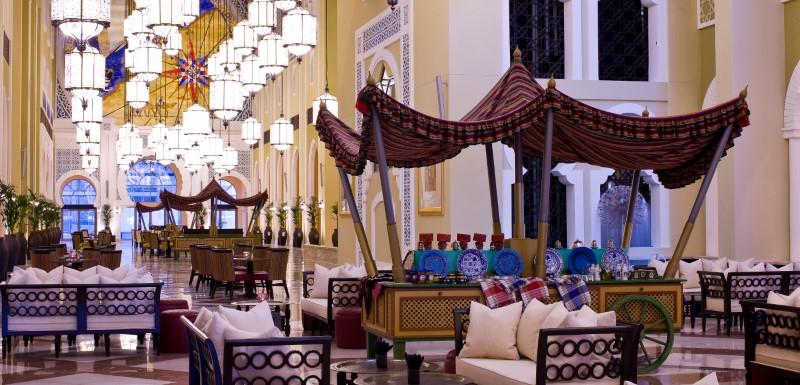 Stunning luxury interior lobby at Oaks Ibn Battuta