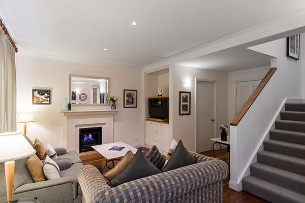large double storey apartment lounge area at oaks cypress lakes resort in hunter valley new south wales