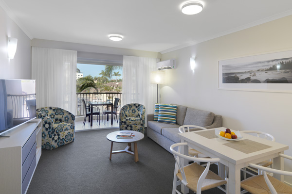 air conditioned apartment for corporate travellers visiting Caloundra for business trips to Sunshine Coast, Queensland, Australia