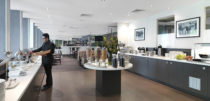 guests enjoying vegetarian breakfast at First Floor Restaurant on Collins St in Melbourne city