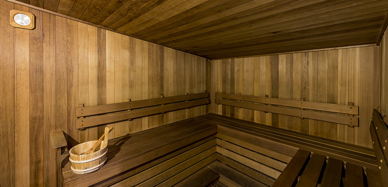 hot sauna for hotel guests staying at Oaks Club Resort to relax in while on holiday in Queenstown, New Zealand