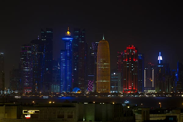 Oaks Doha - City View at Night