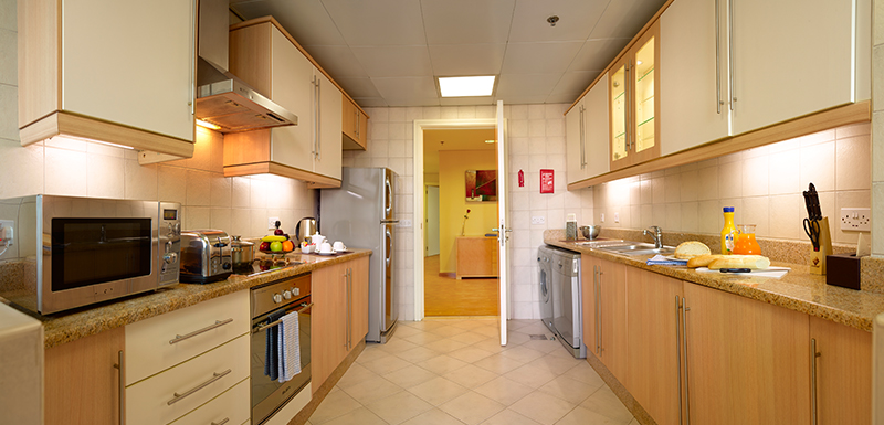 Equipped Apartment Kitchenette at Oaks Liwa Heights