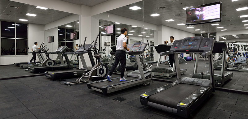 Extensive Gymnasium at Oaks Liwa Heights