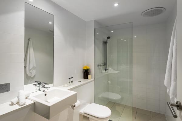 hotel room bathroom near nelson bay