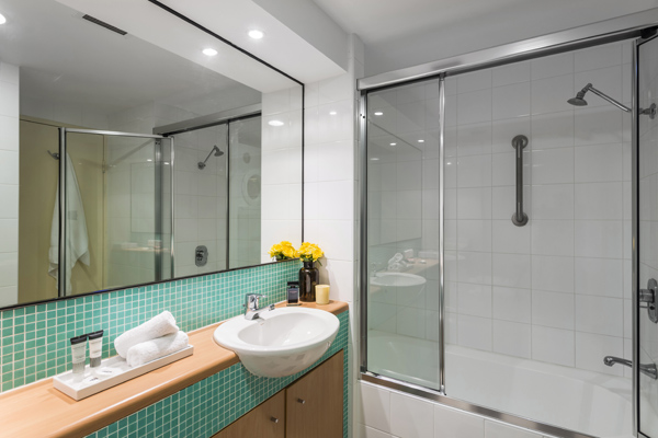 disabled access en suite bathroom at oaks waterfront resort hotel The Entrance new south wales australia