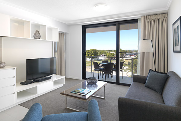 air conditioned apartment in Mackay with large balcony and new furniture at Oaks Carlyle hotel