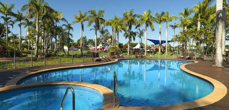 large child friendly swimming pool at Oaks Oasis Resort Caloundra accommodation on Sunshine Coast, Queensland, Australia