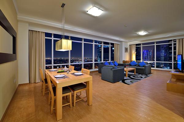 Living Room of 2 Bedroom Apartment at Oaks Liwa Heights